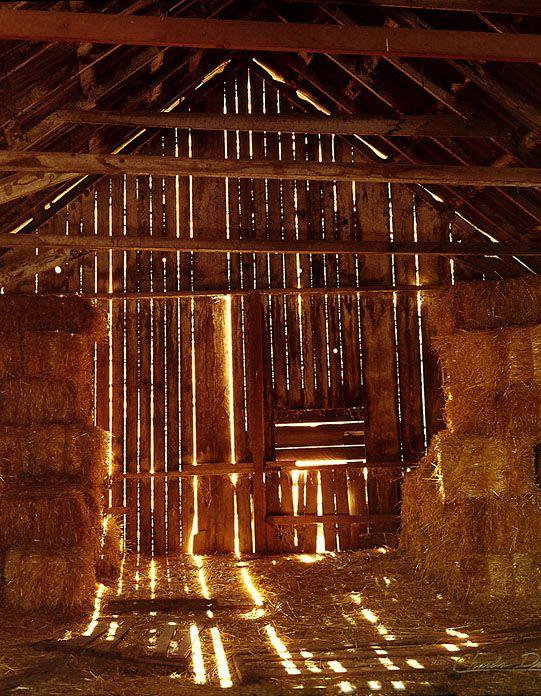 hay barn - light flooding through