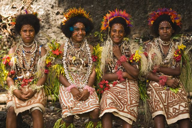 Kofure Women in Traditional Tapa Cloth Dress