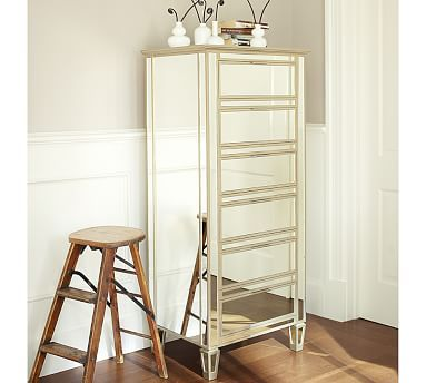 for my make up Park Mirrored Tower Dresser #potterybarn