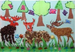 reindeer bulletin board idea for kids