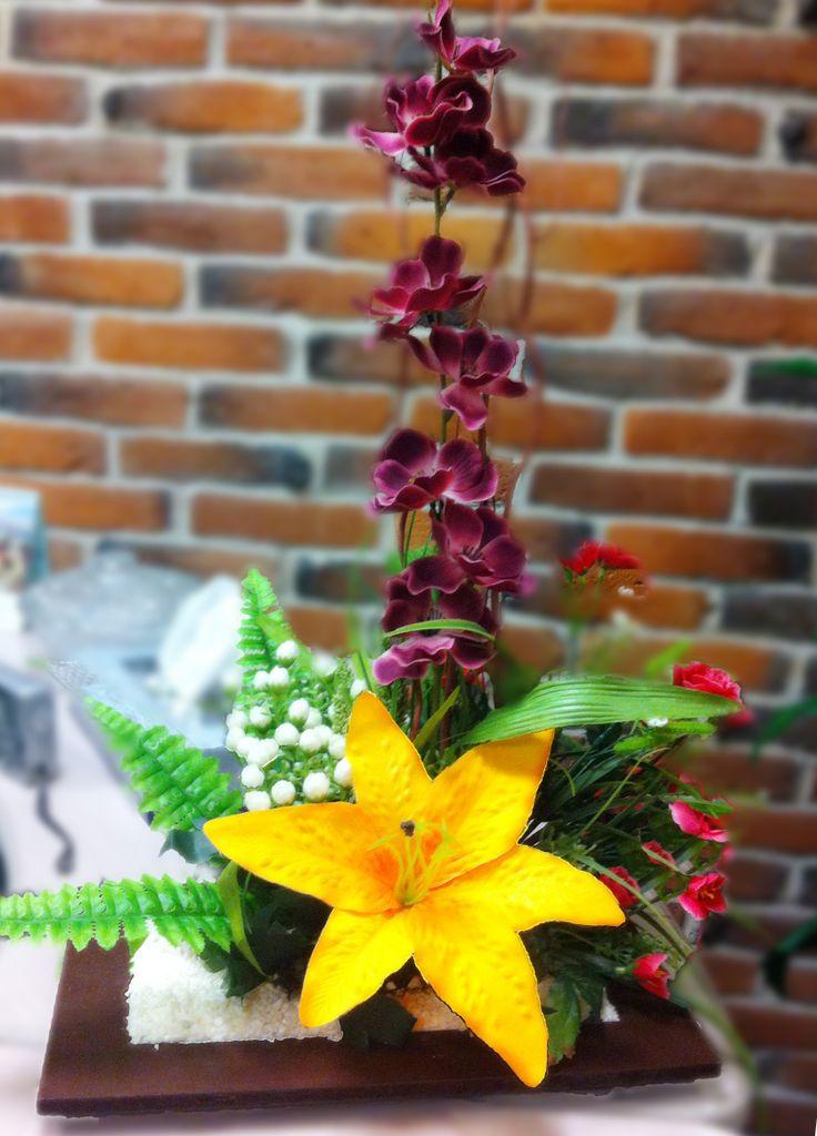 Arreglo floral / Amarillo / Centro de mesa