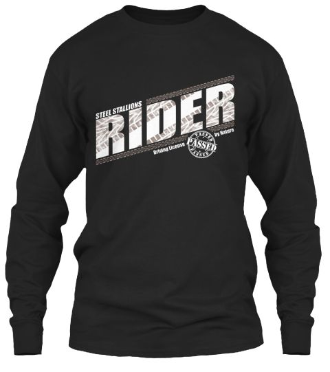 Steel Stallions Rider Black Long Sleeve T-Shirt Front Check out Steel Stallions Rider! Available for the next 21 hari via @Teespring: https://tspr.ng/c/steel-stallions-ride