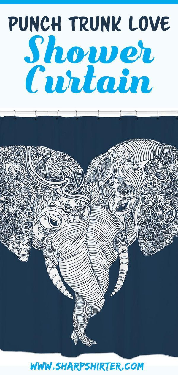 Show You Love For Elephants With This Fun Shower Curtain Sharp Shirter Has Teamed Up