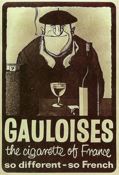 Gauloises, Vintage Poster, 1970s