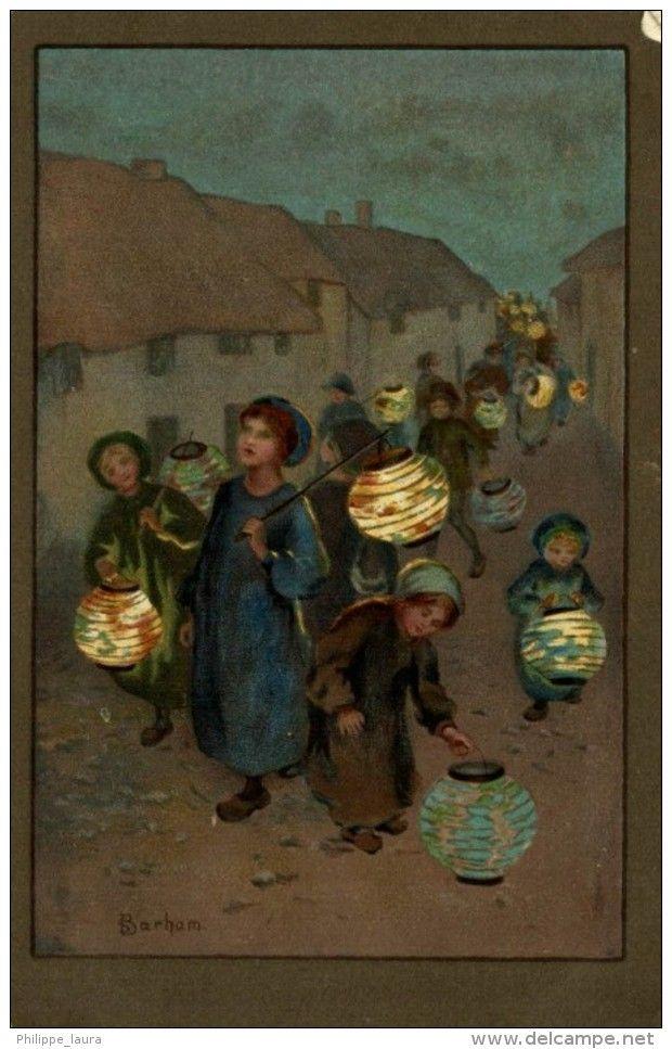 Illustrateur : Barham S, Jeunes Filles et Lanternes, Litho 1931 OJA SPAIN M MUNK