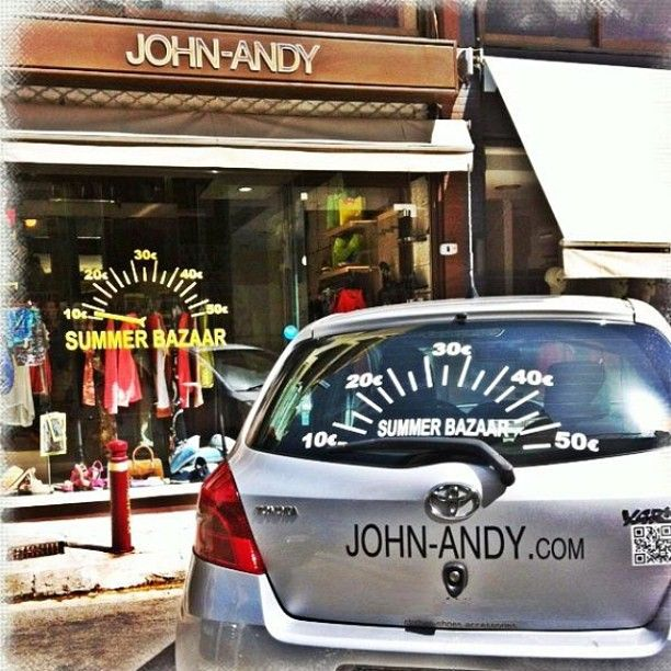 #summer #bazaar #johnandy #store #vitrine #toyota #yaris #speedometer @maria_skordou @konstantinos_apostolopoulos