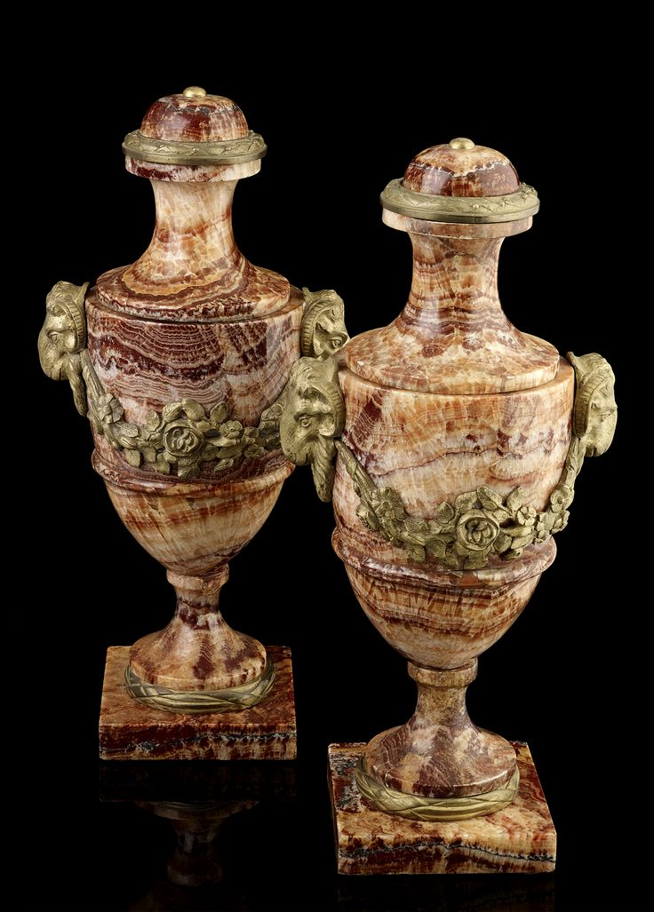 A pair of 19th century Derbyshire Spar urns