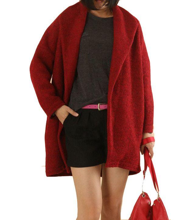 Poncho & Mantelle - Vestito di lana outwear signora stile sciolto - un prodotto unico di buuki su DaWanda