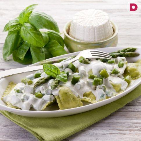 Равиоли с рикоттой и шпинатом, рецепт приготовления
