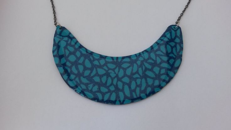 blue original handmade necklace by PolySanAntoni on Etsy, €7.00