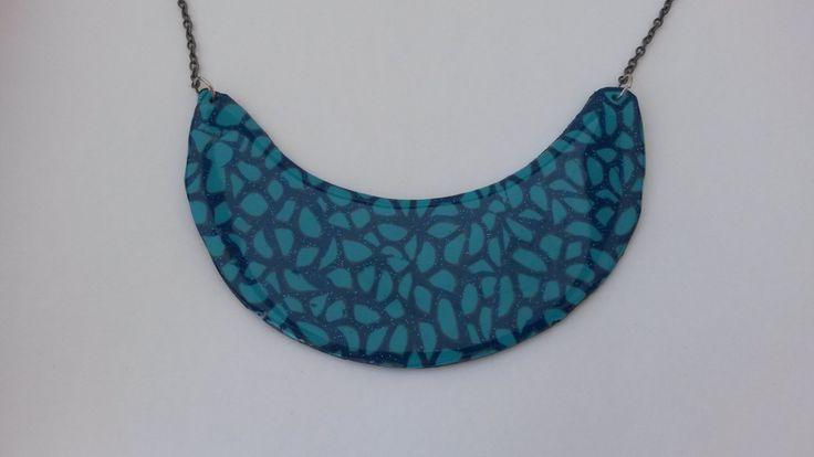 blue original handmade necklace by PolySanAntoni on Etsy, €7.00
