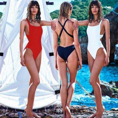 Maillot de Bain 1 pièce Dos Croisé- Santa Monica, maillot de bain une pièce sexy, maillot de bain tendance 2017, maillot de bain pas cher petits prix