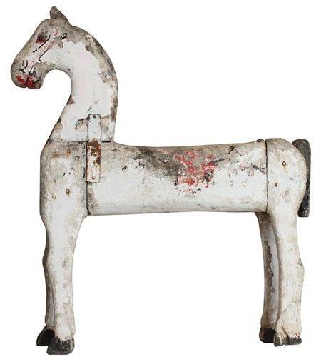 Wooden folk art painted horse...