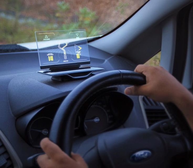 Exploride is a transparent heads up display (HUD) unit for your car that is a standalone device that attaches right to your car's dashboard, and makes it much safer and easier to see your navigation, ...