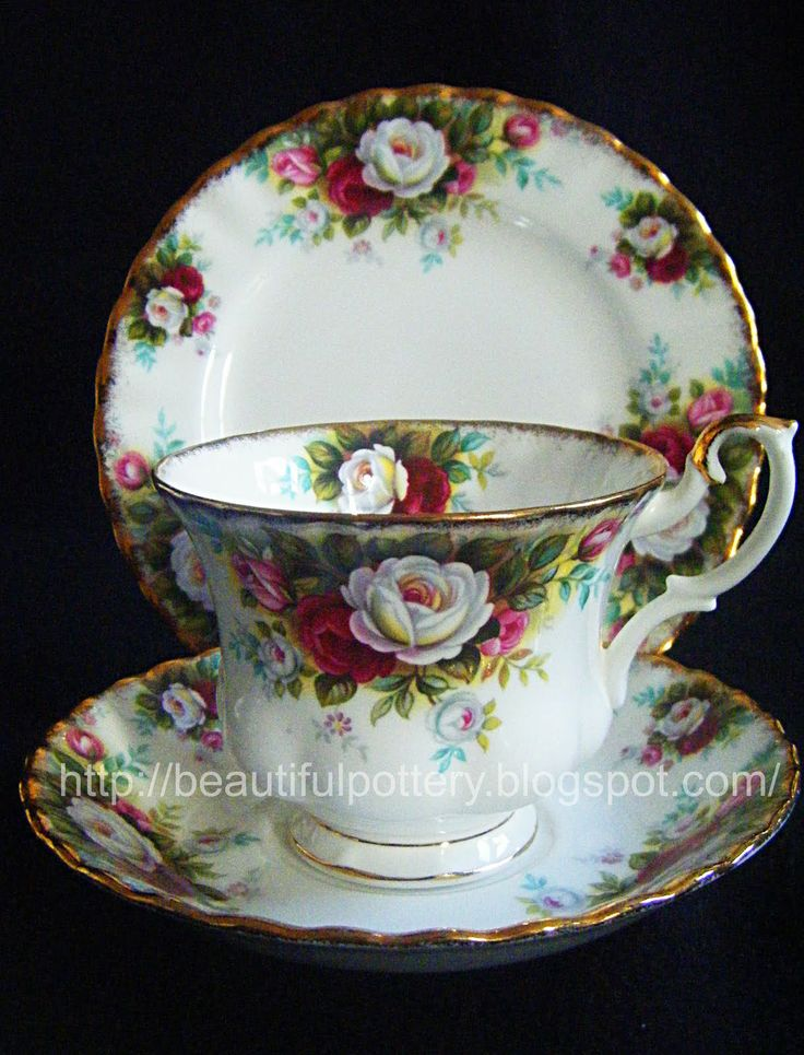 Royal Albert 'Celebration' English Bone China ( I found a place setting in this pattern: dinner plate, lunch plate, dessert plate, cup and saucer dm)