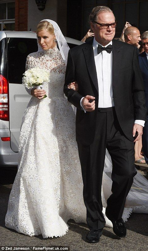 Nicky and her father Richard were followed by the bride's older sister and chief bridesmaid Paris Hilton, 35 (right)