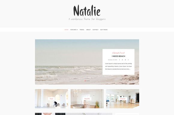 Natalie -  Wordpress Blog Theme by DannyWordPress on @creativemarket