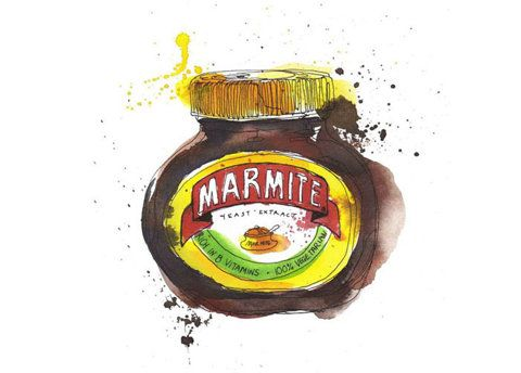 Marmite painting - sadly not mine... :(