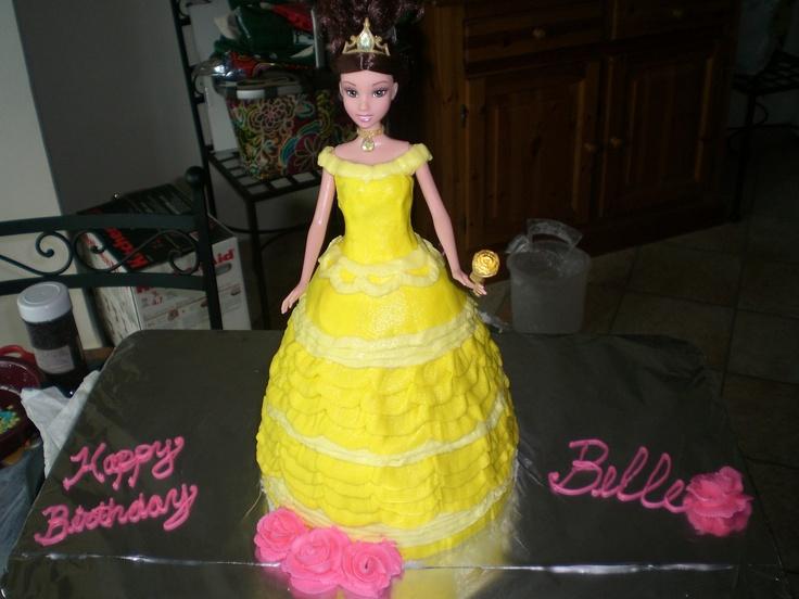 Princess Belle Barbie Birthday Cake