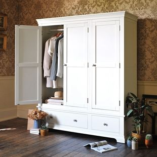 Chantilly White Triple Wardrobe £749