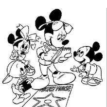 Mickey Mouse on Hollywood Boulevard - Coloring page - DISNEY coloring pages - Mickey Mouse coloring pages