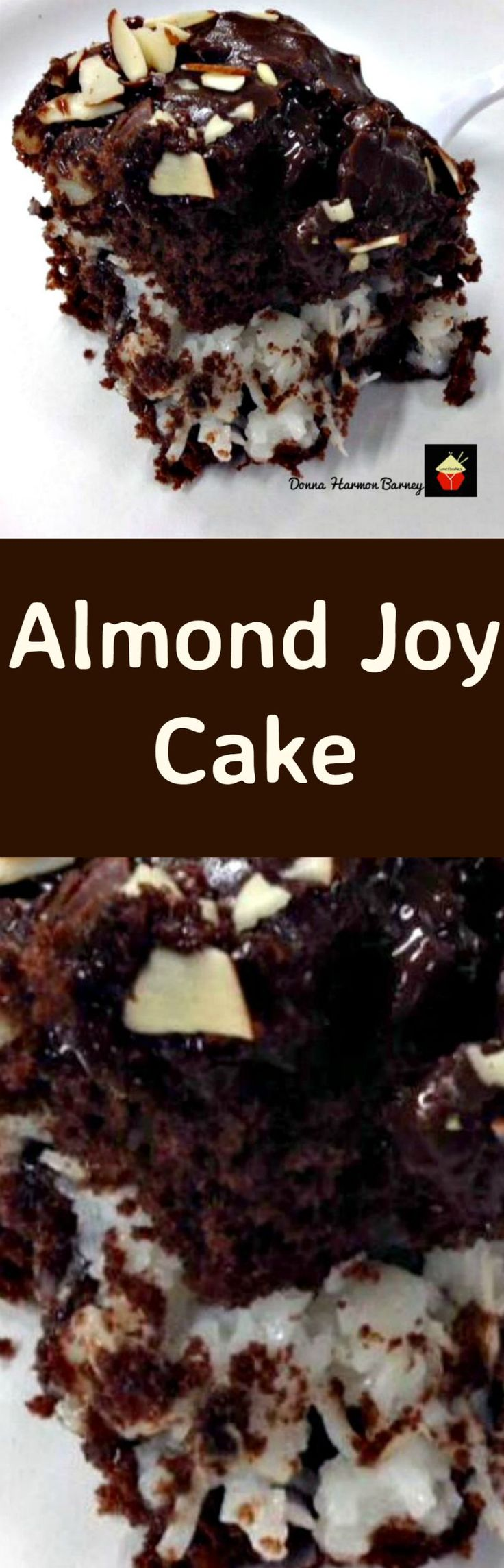 Gold Miner's Almond Joy Cake. A super moist, delicious and rich cake loved by all! Loaded with chocolate, marshmallows,coconut, almonds... this is a pretty amazing cake and perfect for parties too!