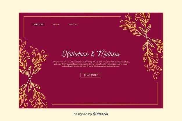 Download Golden Elegant Wedding Landing Page For Free Invitation Printing Wedding Invitations Online Invitations