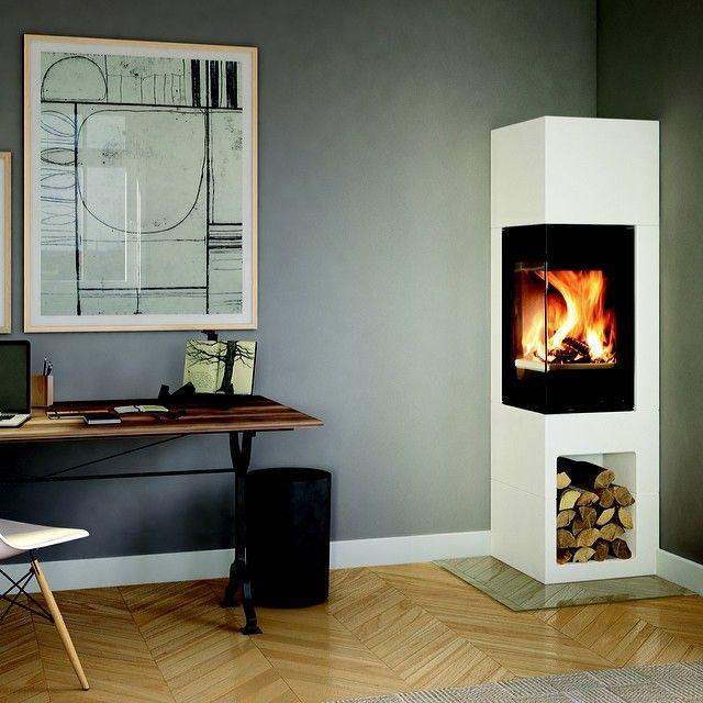 #nordpeis #peiskos#interiør#varme#vedfyring#fireplace#stove#interior Nordpeis Odense liten og nett med stor varme