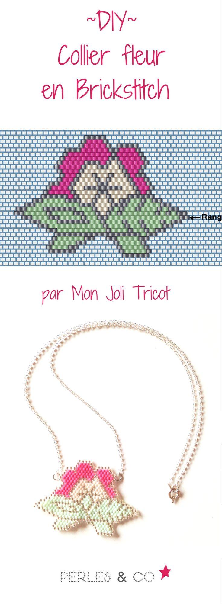 Grâce à Anne de Mon Joli Tricot, retrouvez la grille de tissage et tous les éléments pour réaliser ce collier fleur en brickstitch. DIY-tutoriel-tissage de perles-perles miyuki >> https://www.perlesandco.com/Collier_Fleurs_en_Brick_Stitch_tissage_de_Miyuki-s-2534-28.html