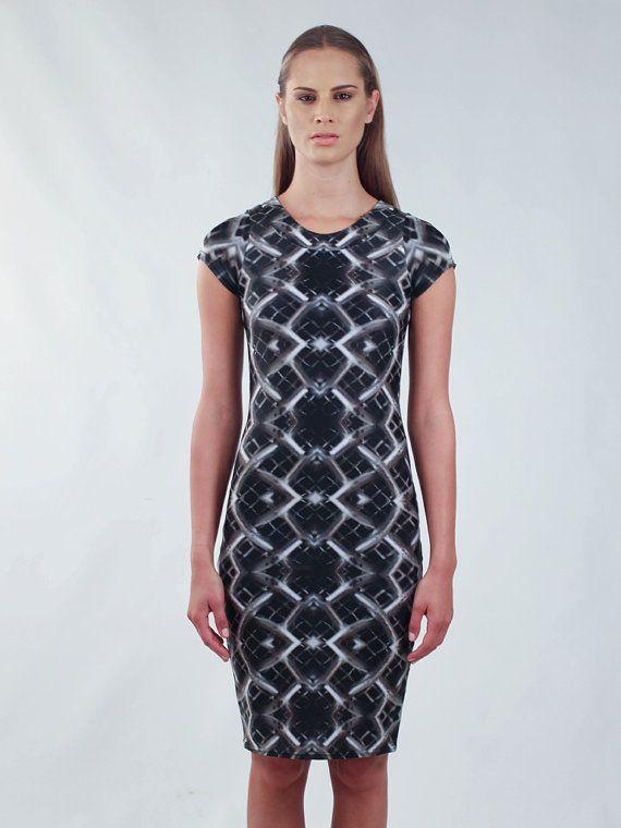 Grid Pencil Dress by PANK