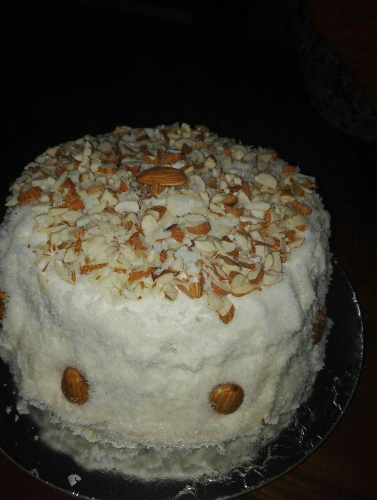 Almond coconut cake...🎂