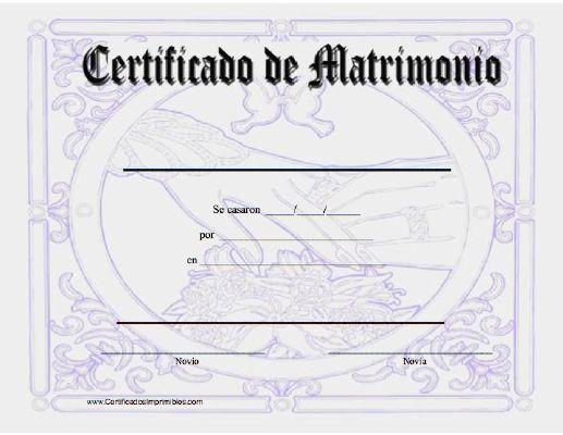 Certificado De Matrimonio Certificado De Matrimonio Acta De Matrimonio Juegos De Matrimonio