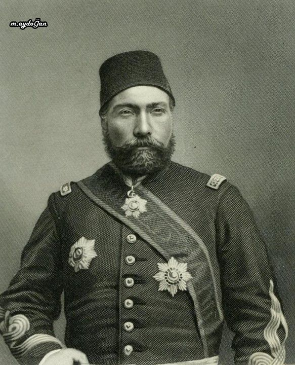"Portrait of Gazi Osman Paşa (1832-1900), ca. 1880.  He was an Ottoman field marshal and the hero of the Siege of Plevna in 1877. Although unsuccessful in defending the city, he was awarded the title Gazi (""warrior"" or ""veteran"") as a result of that siege."