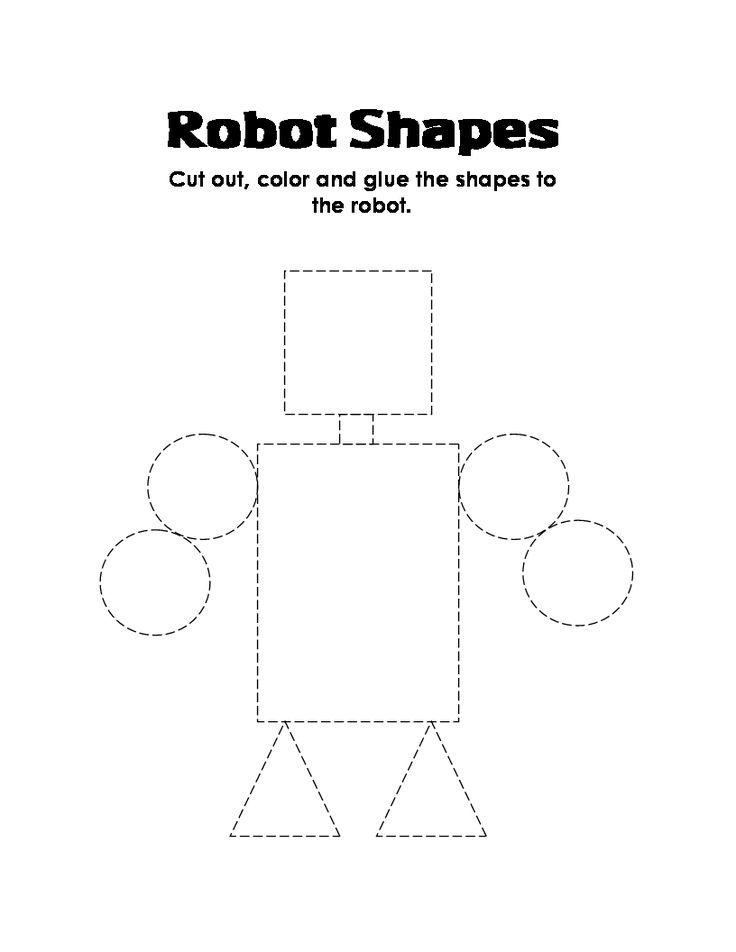 ESL Kid Stuff: robot shapes robotshapessheet.gif (816×1056)