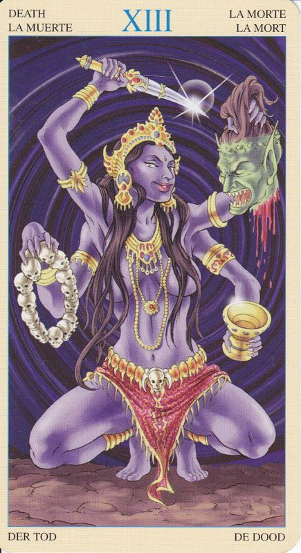 Kali the Goddess of time. The destroyer and the nurturer. One who ends so that new things can begin. The personification of the eternal and inevitable death of all things.