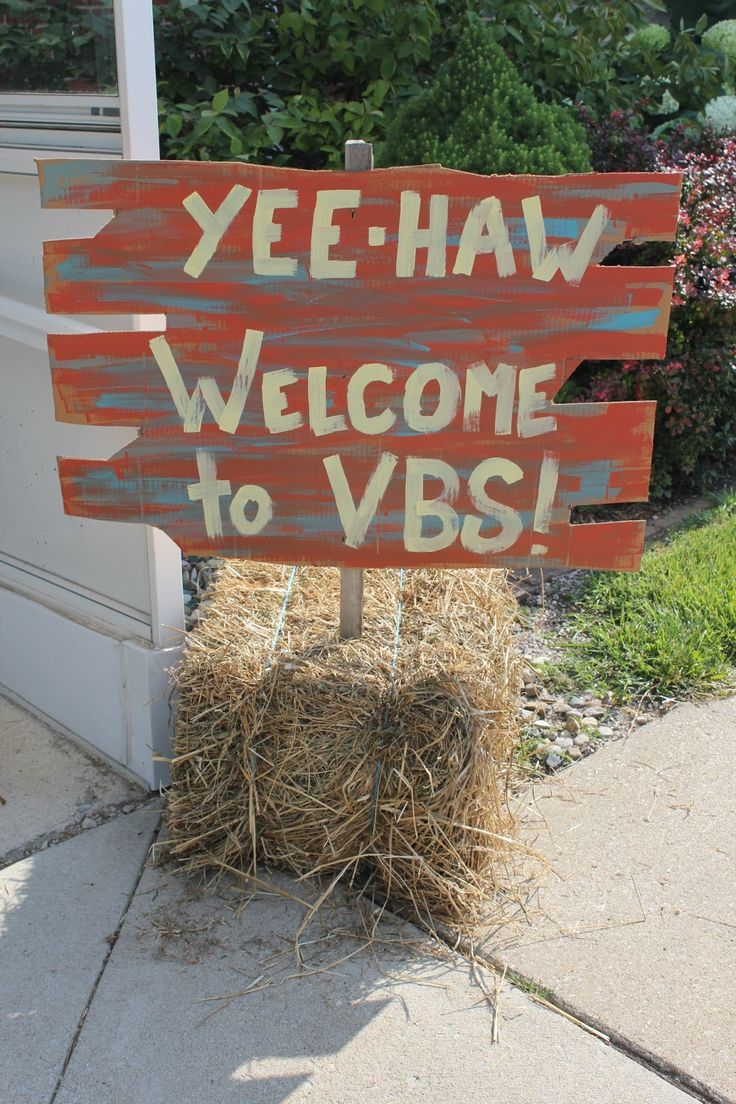 Western arts and crafts - I Like This Welcome Sign For Vbs This Would Be Great Leading Up To Your