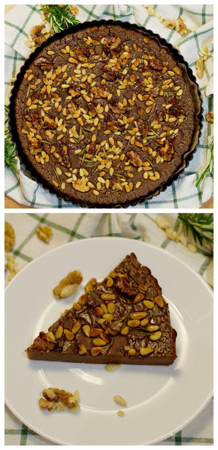 Castagnaccio - Chestnut Cake Recipe.  FREE from dairy, gluten, wheat, egg and sugar.