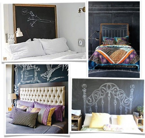 @Malaka Gharib Oh, what about a chalkboard headboard? I believe the top right bedding is from Anthropologie.