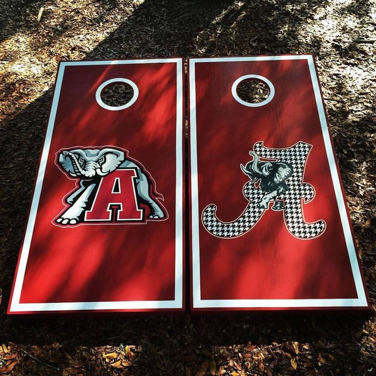 Alabama Cornhole Set With Bean Bags by Albrittonboards on Etsy https://www.etsy.com/listing/506462893/alabama-cornhole-set-with-bean-bags
