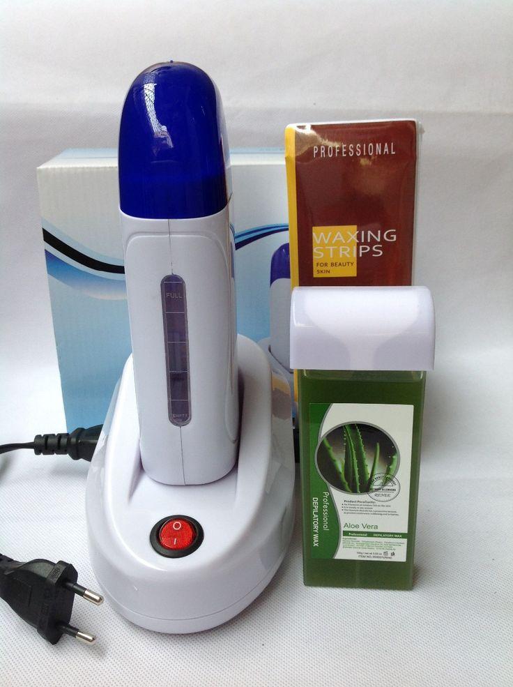 Calentador de cera Establece Un Asiento Seguro Sin Dolor 220-240 V UE Enchufes de Afeitar Depilatoria cera * 1 + Máquina de Depilación * 1 + Papel * 100