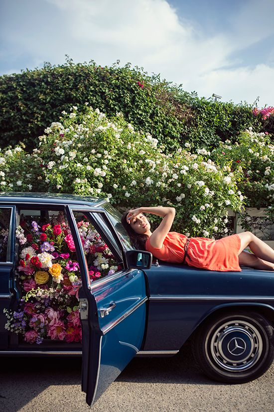 A Great Flower Bomb!! Why not show someone you care by surprising them with an elaborate flower display in an unexpected place, (like say your car). I love the idea of this although I'm sure all those beautiful flowers aren't cheap. This would be a great engagement proposal idea.