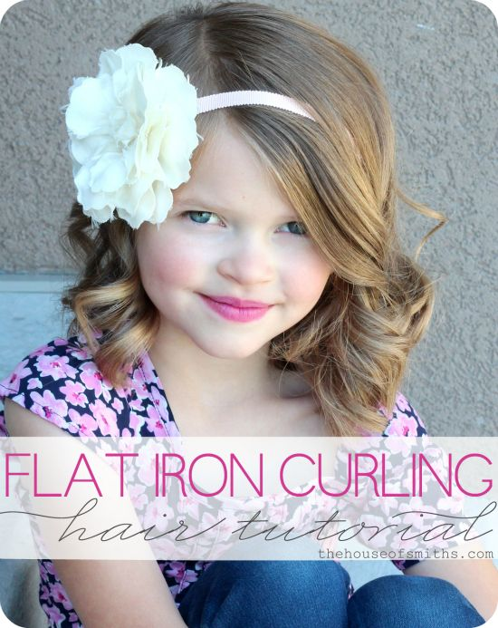 Flat iron hair curling tutorial by The House of Smiths