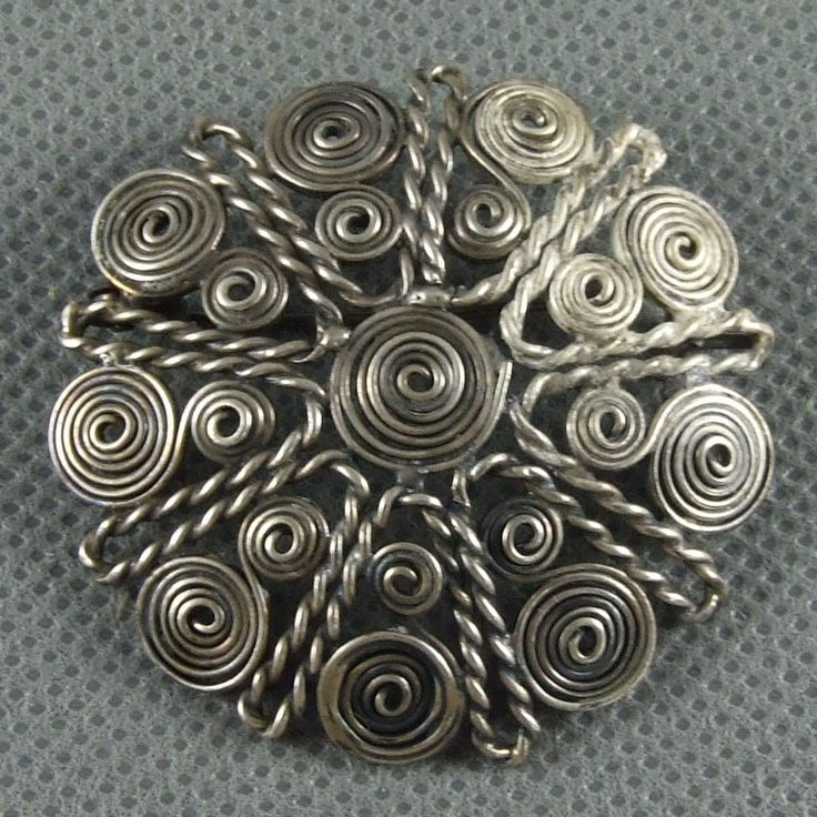 ORNO srebrna filigranowa brosza PR.3