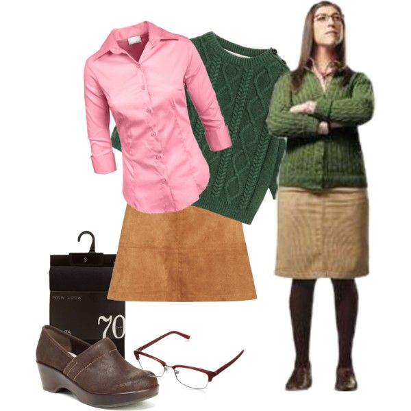 Costume Idea: Amy Farrah Fowler by amityclaw on Polyvore featuring Jambu and Bobbi Brown Cosmetics