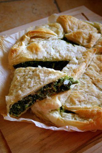 spinach & ricotta rustic tart #healthy #vegetarian