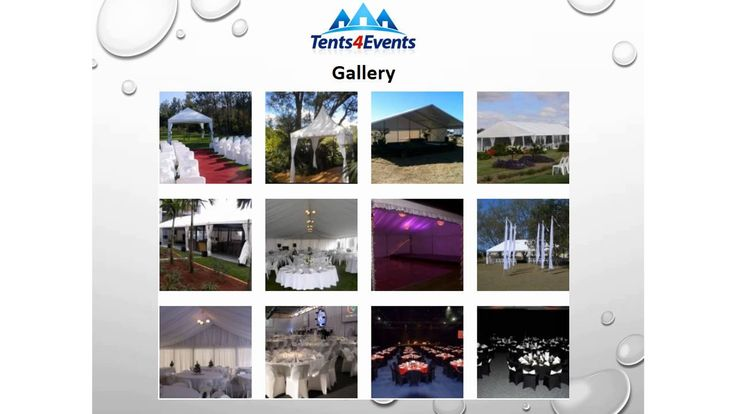 Tents 4 Events have over 20 years experience in the event hire industry. Our knowledge and commitment to provide our customers with hassle free service and the best products available. We service Brisbane,Gold Coast and Sunshine Coast and outer areas. For more information, please contact us.Tents4Events, 8a Mendooran court, Oxenford QLD 4210, Phone: 0468 303 949, www.Tents4events.com.au