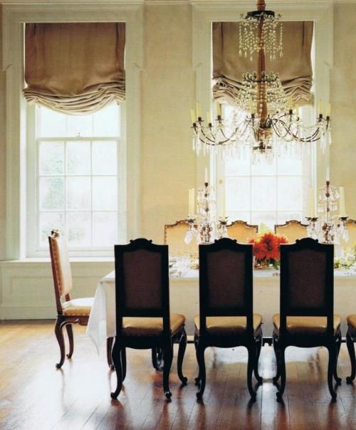 Albert pinto dining rooms pinterest beautiful for Casual dining room curtain ideas