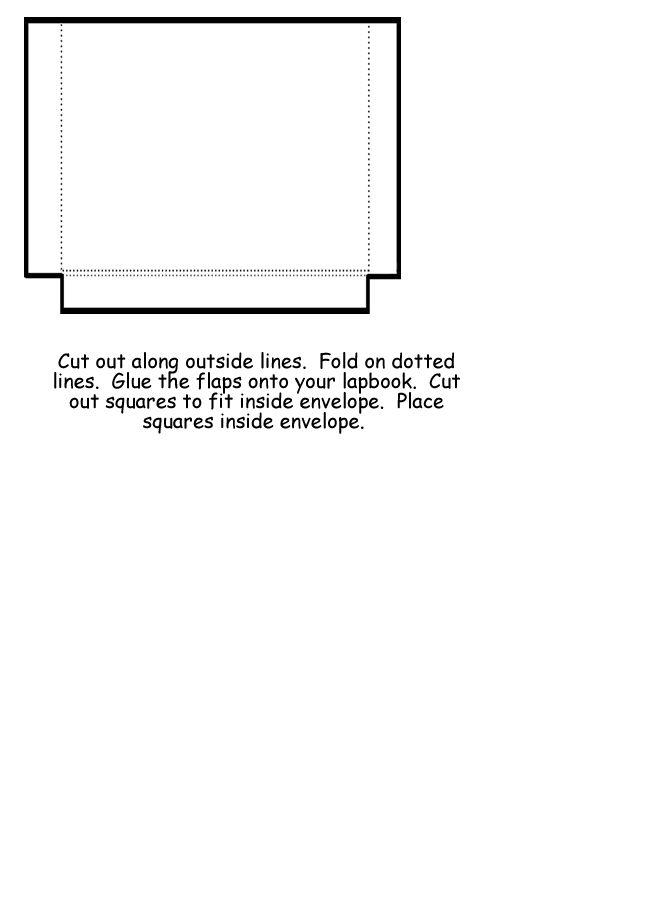 59 best lapbook templates images on Pinterest Language - sample small envelope template