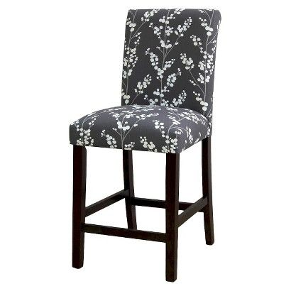 Avington Berries And Branches Counter Stool Graphite