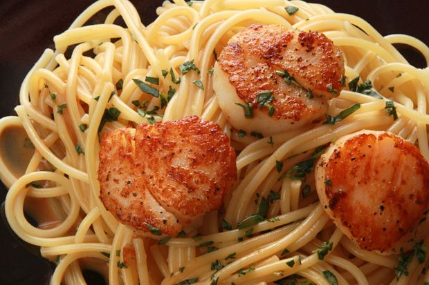 Seared Scallops with Lemon and Vodka | Seafood recipes | Pinterest